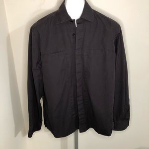 Armani Exchange Black Button Down